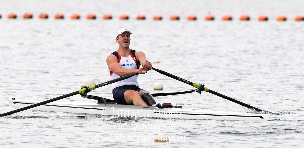 Caversham Reading. GBR LTA4+ [LTA Mixed Coxed four], in the single Ryan CHAMBERS. at the 2011 World Cup Team Announcement held at the GB Rowing, Base and Training centre, Redgrave and Pinsent Rowing Lake. Wednesday  11/05/2011  [Mandatory Credit Peter Spurrier intersport Images]
