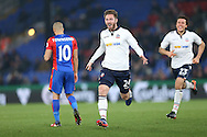 James Henry of Bolton Wanderers © celebrates after scoring his sides 1st goal. Emirates FA Cup 3rd round replay match, Crystal Palace v Bolton Wanderers at Selhurst Park in London on Tuesday 17th January 2017.<br /> pic by John Patrick Fletcher, Andrew Orchard sports photography.