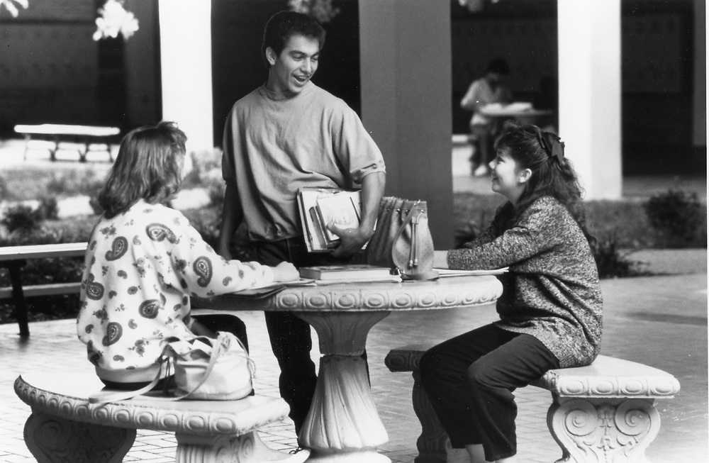 ©1993 High School students studying at Johnston High School, Austin, Texas
