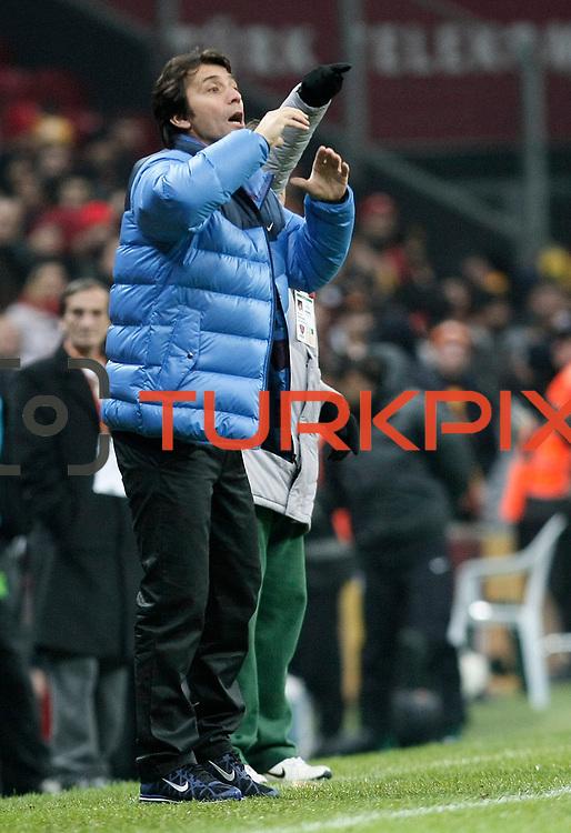 Kardemir Karabukspor's coach Bulent Korkmaz during their Turkish Super League soccer match Galatasaray between Kardemir Karabukspor at the Turk Telekom Arena at Seyrantepe in Istanbul Turkey on Saturday 14 January 2012. Photo by TURKPIX