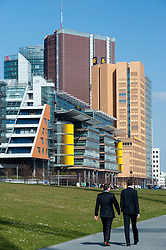 Modern office and apartment buildings in Potsdamer Platz in central Berlin Germany 2009