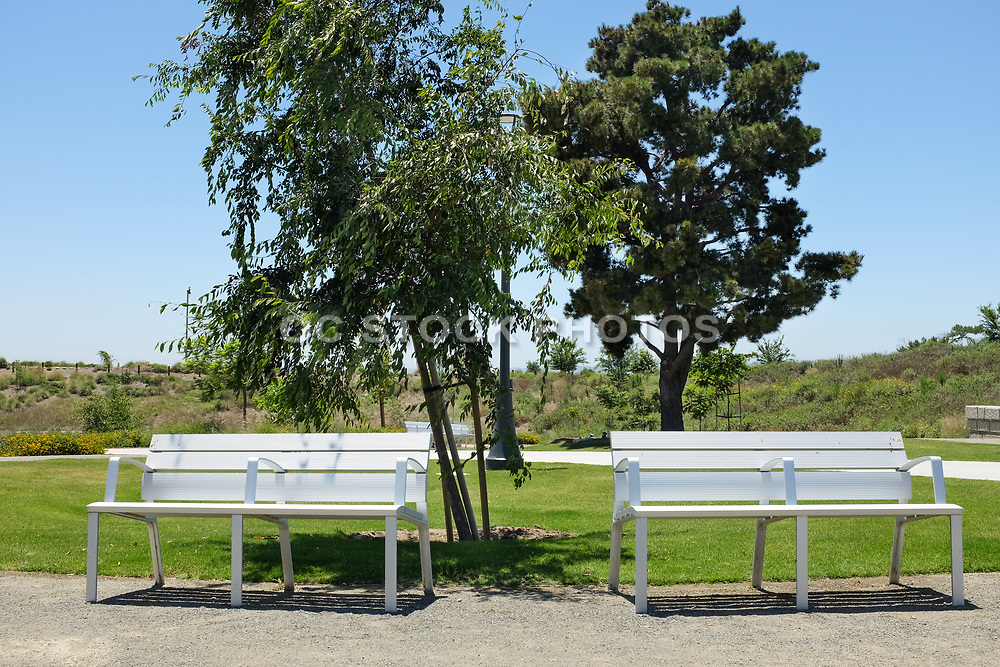 Park Benches in the Bosque Area of the Great Park Open Space Trail System