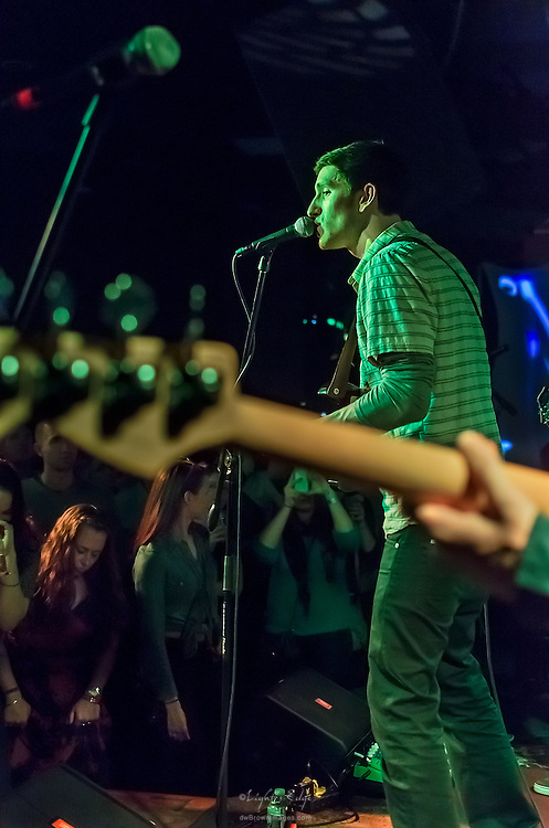 John Shields of Long Miles on vocals and lead guitar during their performance at The Blockley in Philadelphia, PA.