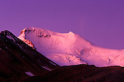 Dawn light on Mount Athabasca, Columbia Icefields, Jasper National Park, Alberta, Canada