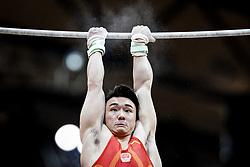 October 29, 2018 - Doha, Qatar - Chaopan Lin of China   during  High Bar, Team final for Men at the Aspire Dome in Doha, Qatar, Artistic FIG Gymnastics World Championships on October 29, 2018. (Credit Image: © Ulrik Pedersen/NurPhoto via ZUMA Press)