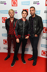 Muse (lead singer Matt Bellamy, centre) attending the Q Awards, at the Roundhouse in Camden, London. Picture date: Tuesday November 2, 2016. Photo credit should read: Matt Crossick/ EMPICS Entertainment.