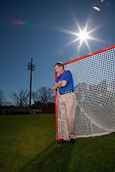 25 January 2012: Head coach John Danowski of the Duke Blue Devils in Durham, NC. (Photo by: Peyton Williams/Inside Lacrosse)