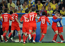 Roman Pavlyuchenko of Russia scored first goal during the UEFA EURO 2008 Group D soccer match between Sweden and Russia at Stadion Tivoli NEU, on June 18,2008, in Innsbruck, Austria.  (Photo by Vid Ponikvar / Sportal Images)