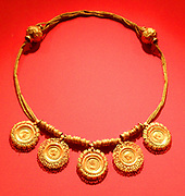 collar with medallions showing portraits of various Roman Emperors including Lucius Verus and Alexander Severus. AD 225 Gold