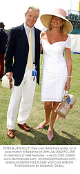 PETER & JAN SCOTT they own Ashe Park water, at a polo match in Berkshire on 28th July 2002.PCL 205