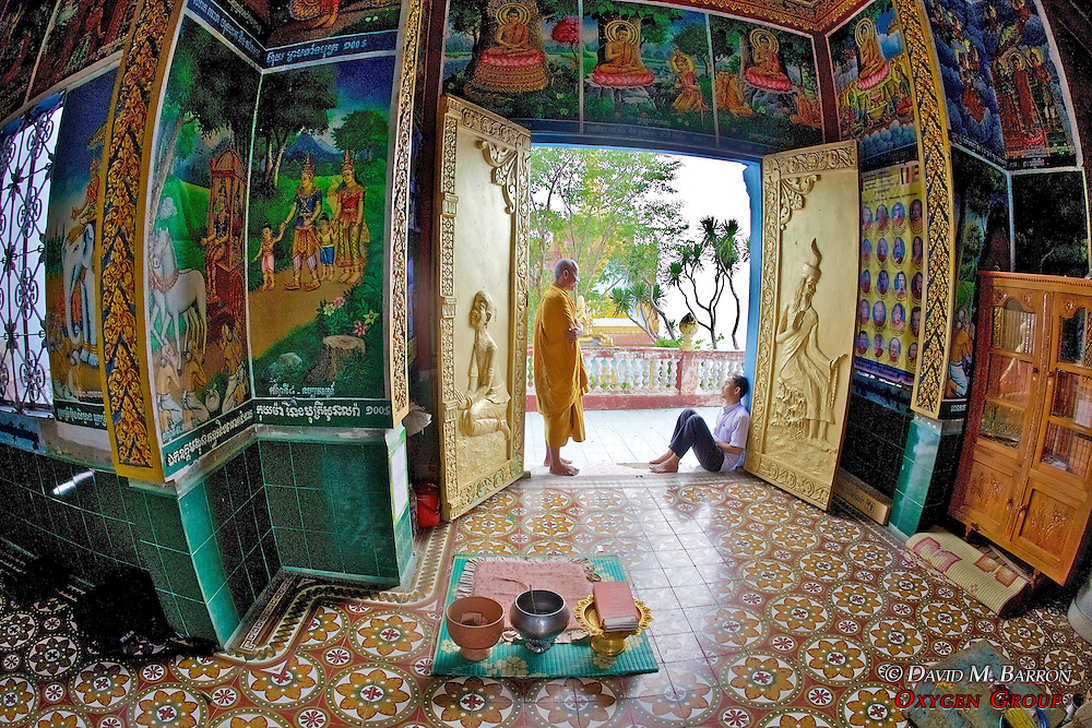 Inside Phnom Sampeau Pagoda