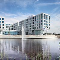 Nederland, Amsterdam , 29 juni 2010..1 van de studio's in de nieuwe vestiging van Endemol in Amsterdam Zuid Oost in de MediArena Studio's..Endemol Holding B.V. is een van de grootste internationale televisieproducenten. Het bedrijf is in 1994 ontstaan na een fusie van de televisieproductiebedrijven van Joop van den Ende (Endemol) en John de Mol (Endemol). In 2003 boekte de Endemol Group een omzet van EUR 913,8 miljoen. Wereldwijd werken er 3300 mensen (waarvan 800 in Nederland)..In 2000 werd Endemol verkocht voor EUR 5,5 miljard aan het Spaanse telecombedrijf Telefónica..Op de foto het nieuwe pand van Endemol in Amsterdam Zuid Oost..The new building of the new branch of Endemol in Amsterdam South East in the MediArena Studios. In 2000, Endemol was sold to the Spanish telecom company Telefonica for EUR 5.5 billion.