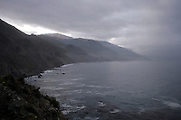 4 August 2006: Scenic view looking south early morning along Highway 1 through central California along the coast of Big Sur.