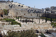 Israel, Jerusalem Excavation of the old remains of the city of David, November 2005