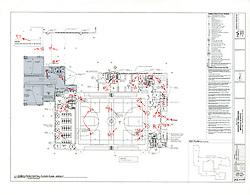Sarah Gibbons Middle School Pre-Demolition Documentation. Key Plan Number 1 of 15