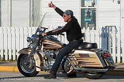 Enrique Fernandez just off Main Street on the final Saturday of Daytona Bike Week. FL, USA. March 15, 2014.  Photography ©2014 Michael Lichter.