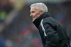 Alloa Athletic's manager Jim Goodwin. Falkirk 1 v 2 Alloa Athletic, Scottish Championship game played 6/4/2019 at The Falkirk Stadium.
