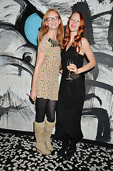 Left to right, OLIVIA INGE and MORWENNA LYTTON COBBOLD at a party to celebrate the first anniversary of SushiSamba at the Heron Tower, 110 Bishopsgate, London EC4 on 12th November 2013.