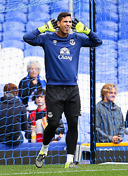 Everton's Joel Robles warms up  - Mandatory byline: Matt McNulty/JMP - 07966386802 - 12/09/2015 - FOOTBALL - Goodison Park -Everton,England - Everton v Chelsea - Barclays Premier League