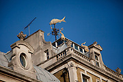 Weather vane on top of the Old Billingsgate Fish Market. London.