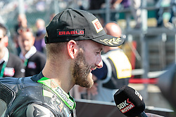 September 29, 2018 - 66, Tom Sykes, GBR, Kawasaki ZX-10RR, Kawasaki Racing Team WorldSBK, SBK 2018, MOTO - SBK Magny-Cours Grand Prix 2018, Race 1, 2018, Circuit de Nevers Magny-Cours, Acerbis French Round, France ,September 29 2018, action during the SBK Race 1 of the Acerbis French Round on September 29 2018 at Circuit de Nevers Magny-Cours, France (Credit Image: © AFP7 via ZUMA Wire)
