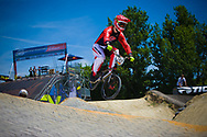 At the 2014 UCI BMX Supercross World Cup in Berlin, Germany.