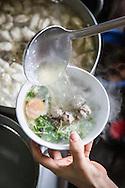 Bun Moc soup in a shop on Hang Luoc street, Hanoi, Vietnam, Southeast Asia