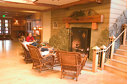 WY: Wyoming; Yellowstone National Park:.Snow Lodge near Old Faithful.  .Photo #: yellow1194.Photo copyright Lee Foster, 510/549-2202, lee@fostertravel.com, www.fostertravel.com..