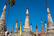 Takhaung Mwetaw Pagoda on the banks of Inle Lake on 21st January 2016 in Shan State, Myanmar