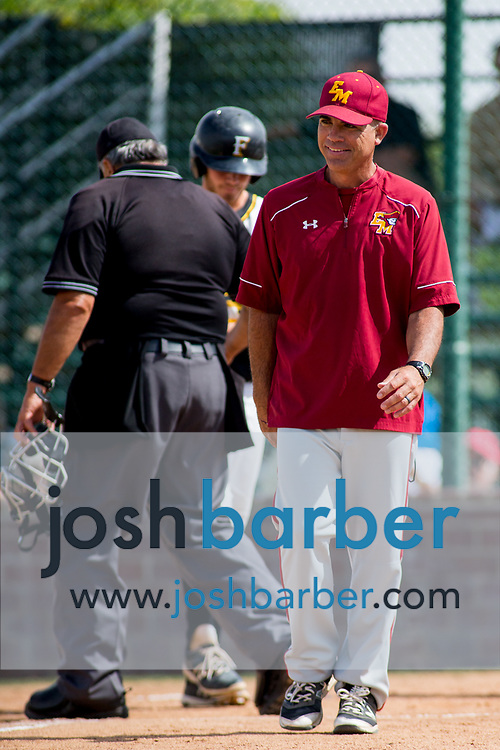 El Modena head coach Josh Kliner during a Crestview League game at Foothill High School on Friday, May 5, 2017 in North Tustin, Calif. Foothill won 4-2. (Photo by Josh Barber, Contributing Photographer)