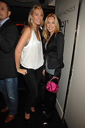 Left to right, OLIVIA BUCKINGHAM and IMOGEN LLOYD-WEBBER at a party to celebrate the launch of the Kova & T fashion label and to re-launch the Harvey Nichols Fifth Floor Bar, held at harvey Nichols, Knightsbridge, London on 22nd November 2007.<br />