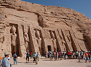 The Goddess Hathor (personified by Queen Nefertari) Temple adjacent to that of Rameses the Great, Abu Simbel Nubia, Egypt