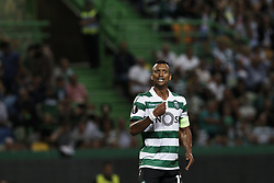 September 20, 2018 - Lisbon, Portugal - Nani of Sporting reacts during Europa League 2018/19 match between Sporting CP vs Qarabagh FK, in Lisbon, on September 20, 2018. (Credit Image: © Carlos Palma/NurPhoto/ZUMA Press)