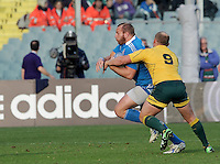 Florence, Italy -In the photo Ghilardini opposed by Sheehan.Artemio Franchi stadium in Florence Rugby test match Cariparma.Italy vs Australia. (Credit Image: © Gilberto Carbonari).