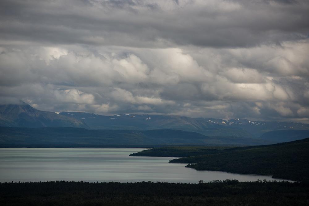 Glacial striations on the Iliuk Arm of Naknek Lake, Alaska