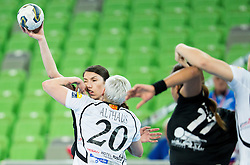 Mirjeta Bajramovska #13 of Krim Mercator vs Anja Althaus of Vardar during handball match between RK Krim Mercator (SLO) and WHC Vardar SCBT (FYR of Macedonia) in Round #6 of Main Round of EHF Women's Champions League 2014/15, on March 6, 2015 in Arena Stozice, Ljubljana, Slovenia. Photo by Vid Ponikvar / Sportida