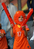 Football - 2017 UEFA Women's European [Euro] Championship - Group A : Netherlands vs. Denmark<br /> <br /> Fans of Netherlands at Sparta Stadoin , Rotterdam.<br /> <br /> COLORSPORT/LYNNE CAMERON