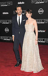 December 10, 2016 - Los Angeles, CA, United States of America - Diego Luna and Felicity Jones arriving at the Star Wars ''Rogue One'' World Premiere at the Pantages Theater on December 10 2016 in Hollywood, CA  (Credit Image: © Famous/Ace Pictures via ZUMA Press)