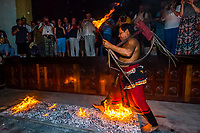 "Fire walking, ""Dances of Sri Lanka"" cultural performance, Kandy, Central Province, Sri Lanka."