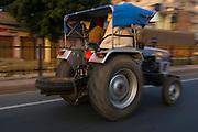 Road traffic<br /> Agra<br /> Uttar Pradesh,  India