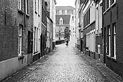 Cobbled street in Bruges, Belgium