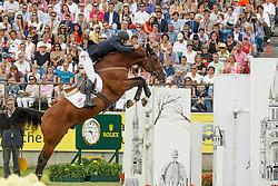 Clee Joe, (GBR), Utamaro D Ecaussines<br /> Individual Final Competition<br /> FEI European Championships - Aachen 2015<br /> © Hippo Foto - Dirk Caremans<br /> 23/08/15