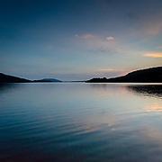 Last light, Loch Melfort, Argyll, Scotland.