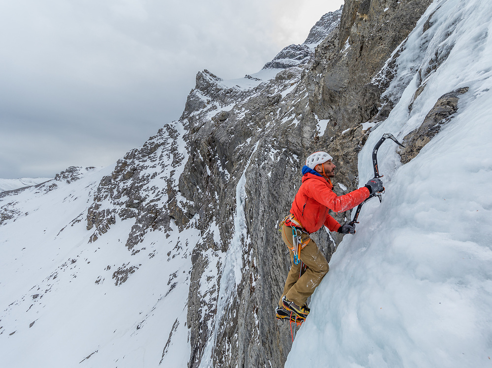 Jeff Mercier climbing Chalice and the Blade