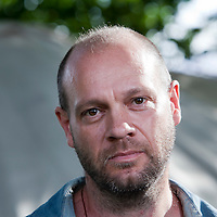 Ben Stewart, head of media for Greenpeace,  at the Edinburgh International Book Festival 2015. Edinburgh, Scotland. 20th August 2015 <br /> <br /> Photograph by Gary Doak/Writer Pictures<br /> <br /> WORLD RIGHTS