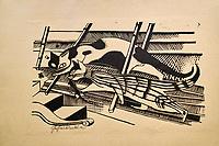 République d'Irlande, Dublin, National Gallery of Ireland, musée national de peinture, Gerhard Marcks, The Cats, 1921 // Republic of Ireland; Dublin, National Gallery of Ireland, Gerhard Marcks, The Cats, 1921