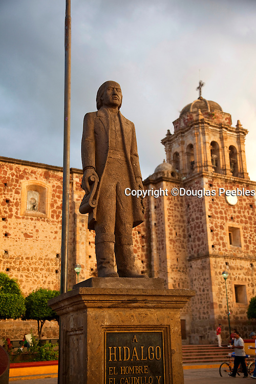 Hildalgo Statue, Our Lady of Purisma Concepcion, Church, Town of Tequila, Jalisco, Mexico