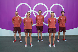 Team Switzerland, Goddel Robin, Johner Melody, Burger Dominik, Bodenmuller Eveline, Vogg Felex<br /> Olympic Games Tokyo 2021<br /> © Hippo Foto - Dirk Caremans<br /> 25/07/2021