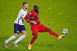 LEUVEN, BELGIUM - Sunday, November 15, 2020: Belgium's Romelu Lukaku (R) and England's Eric Dier during the UEFA Nations League Group Stage League A Group 2 match between England and Belgium at Den Dreef. (Pic by Jeroen Meuwsen/Orange Pictures via Propaganda)