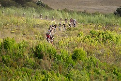 The lead bunch during stage 1 of the 2017 Absa Cape Epic Mountain Bike stage race held from Hermanus High School in Hermanus, South Africa on the 20th March 2017<br /> <br /> Photo by Greg Beadle/Cape Epic/SPORTZPICS<br /> <br /> PLEASE ENSURE THE APPROPRIATE CREDIT IS GIVEN TO THE PHOTOGRAPHER AND SPORTZPICS ALONG WITH THE ABSA CAPE EPIC<br /> <br /> ace2016